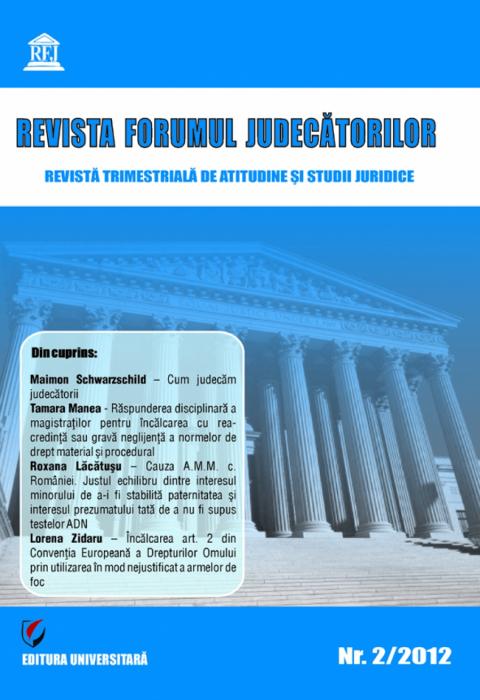 Revista Forumul Judecatorilor - Nr. 2/2012 [0]