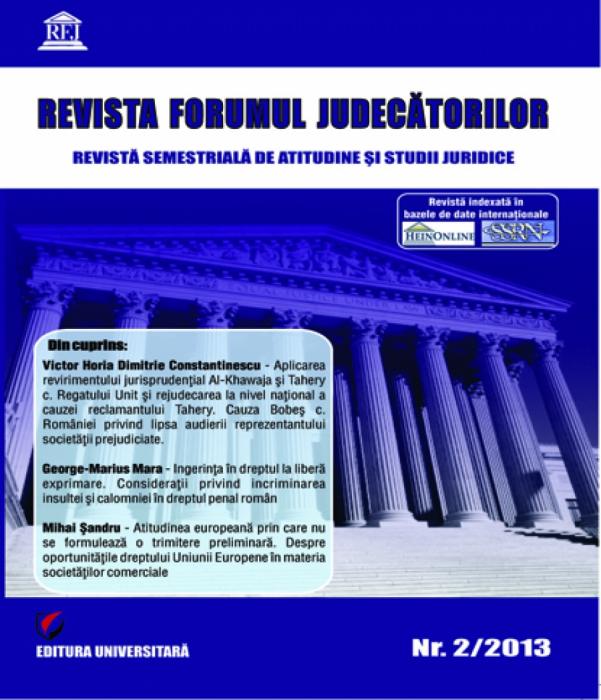 Judges Forum Magazine - no. 2/2013 0