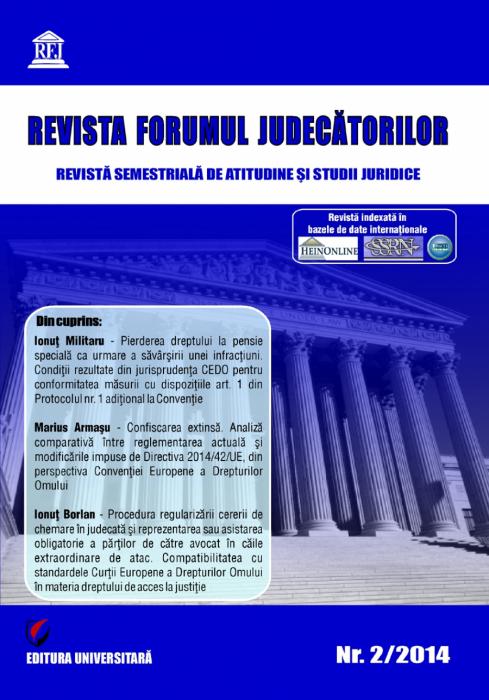 Revista Forumul Judecatorilor - nr. 2/2014 0