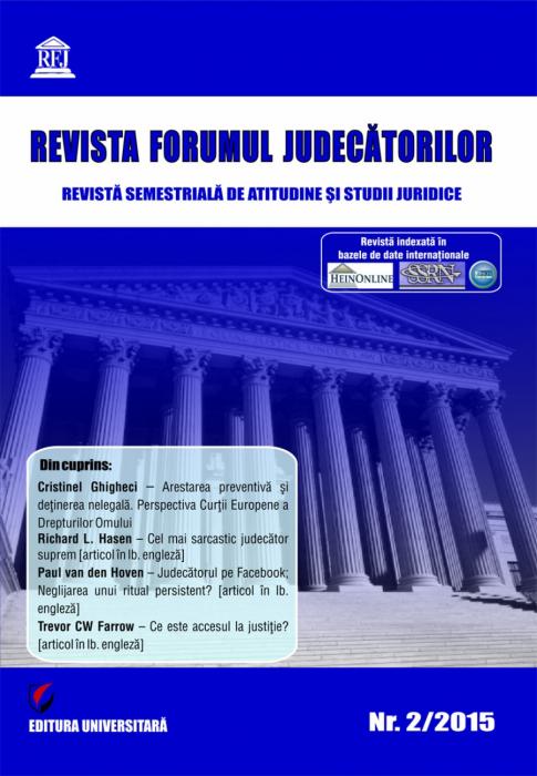 Revista Forumul Judecatorilor - nr. 2/2015 [0]