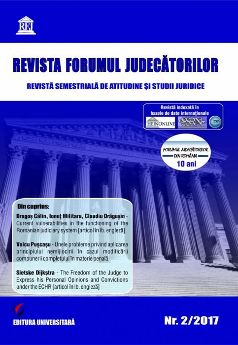Revista Forumul Judecatorilor - nr. 2/2017 0