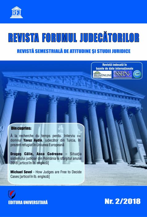 Revista Forumul Judecatorilor, nr. 2/2018 0
