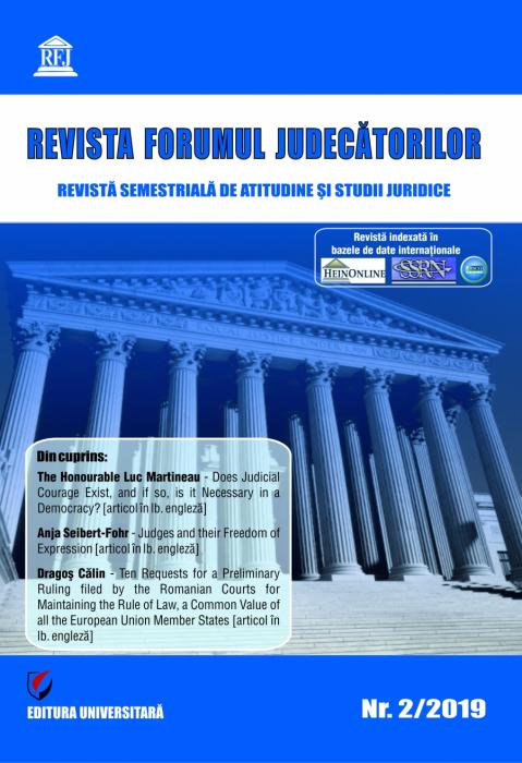 Revista Forumul Judecatorilor, nr. 2/2019 [0]
