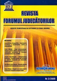 Revista Forumul Judecatorilor - Nr. 3 / 2009 0