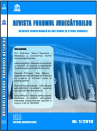 Judges Forum magazine - no. 1 / 2010 [0]