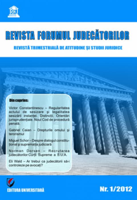 Revista Forumul Judecătorilor - nr. 1/2012 0