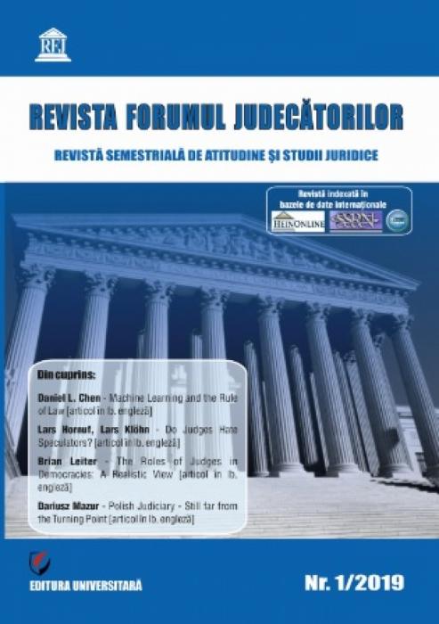 Revista Forumul Judecătorilor - Nr. 1/2019 [0]