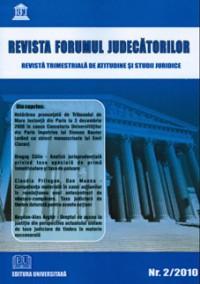 Revista Forumul Judecătorilor - Nr. 2/2010 0