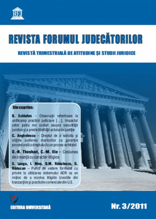 Revista Forumul Judecătorilor - nr. 3/2011 [0]