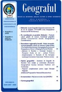 Revista Geograful - Anul II - Nr. 1 - Ianuarie - Martie 2010 [0]
