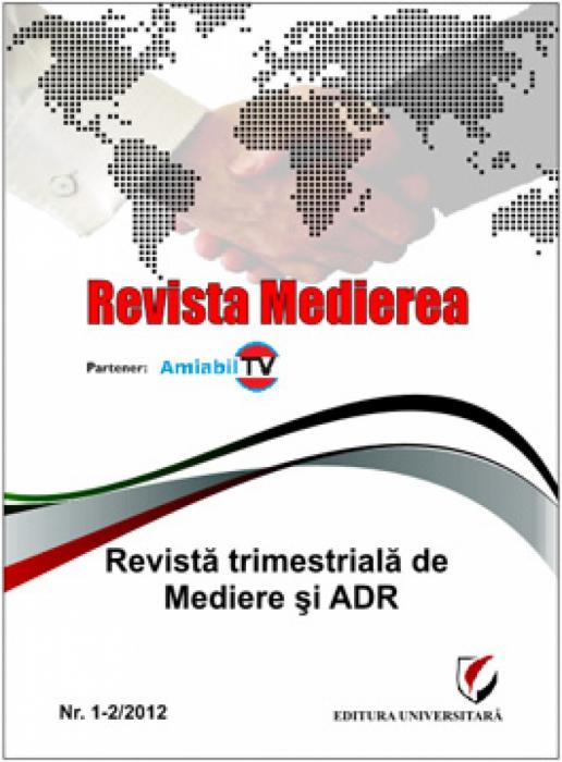 Revista Medierea nr. 1-2/2012 0