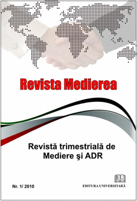 Revista Medierea - Nr. 1/2010 0