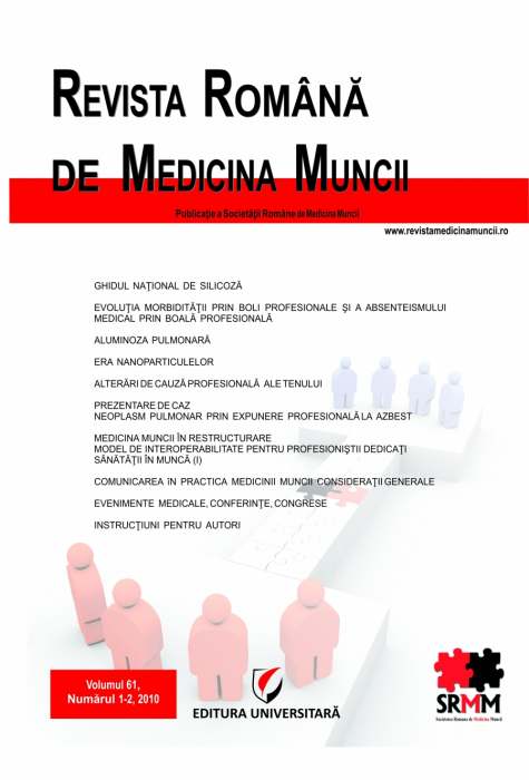Romanian Journal of Occupational Medicine, vol. 61, No. 1-2/2010 0