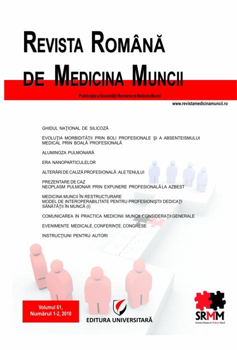 Revista Romana de medicina Muncii, vol. 61, nr. 1-2/2010 [0]