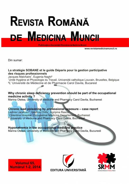 Romanian Journal of Occupational Medicine, vol. 65, No. 1-2/2014 0