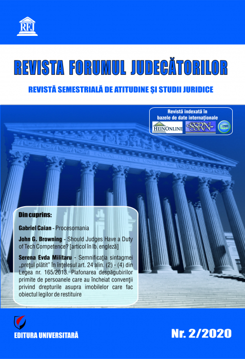 Revista Forumul Judecatorilor - Nr. 2/2020 [0]