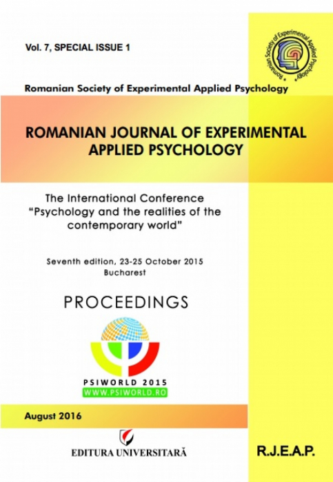Romanian Journal of Experimental Applied Psychology, vol. 7, issue 1/2016 0