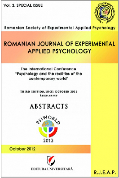 """The International Conference """"Psychology  and the realities of the contemporary world"""", Abstracts, octomber 2012 0"""
