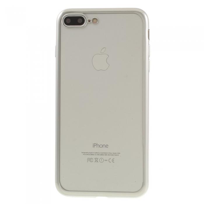 Husa silicon placat margine Iphone 7+ 0