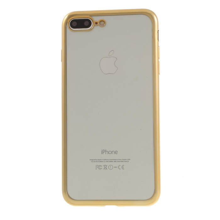 Husa silicon placat margine Iphone 7+ 2