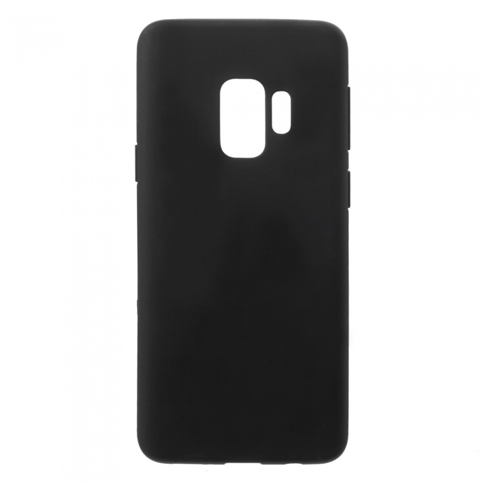 Husa silicon slim mat Samsung S9 negru [0]