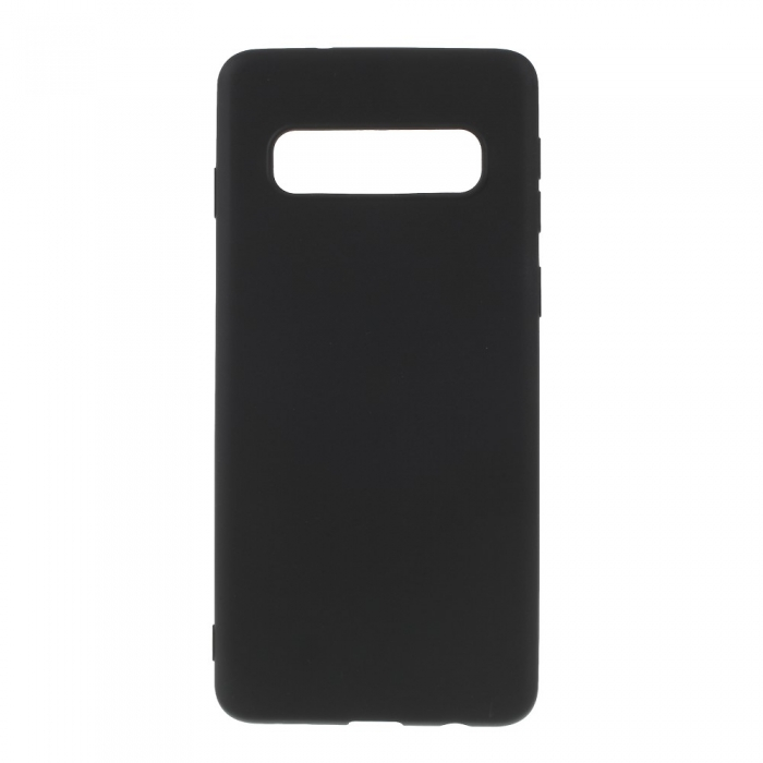 Husa silicon slim mat Samsung S10 negru [0]