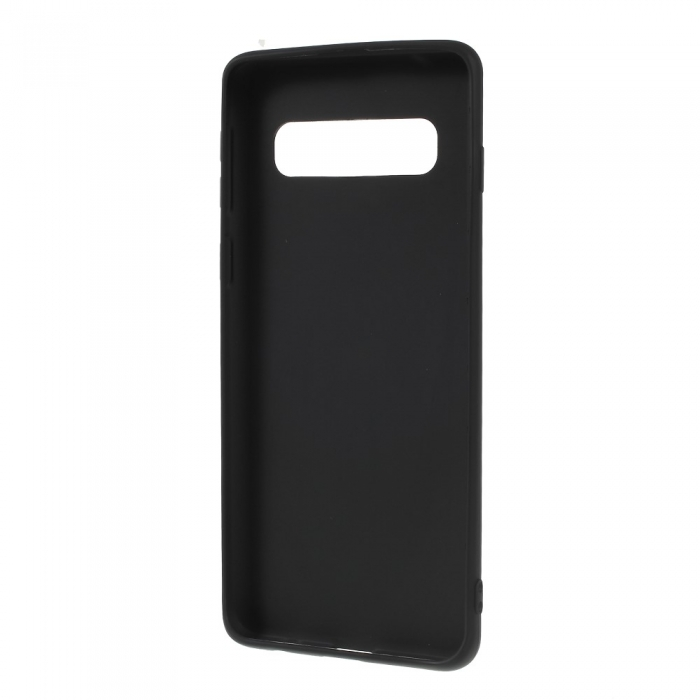 Husa silicon slim mat Samsung S10 plus negru 1