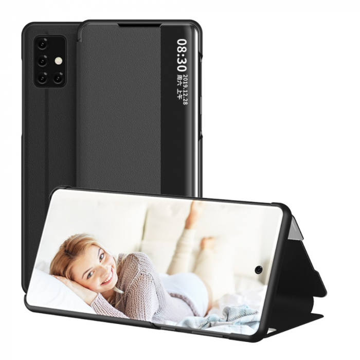 Husa smart clear view Samsung A51 - 5 culori 2