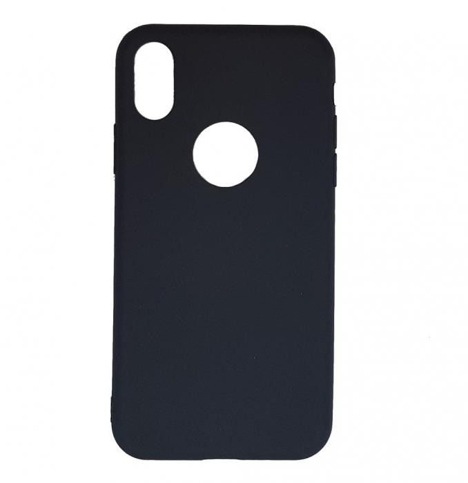 Husa silicon slim mat Iphone Xs Max negru 0