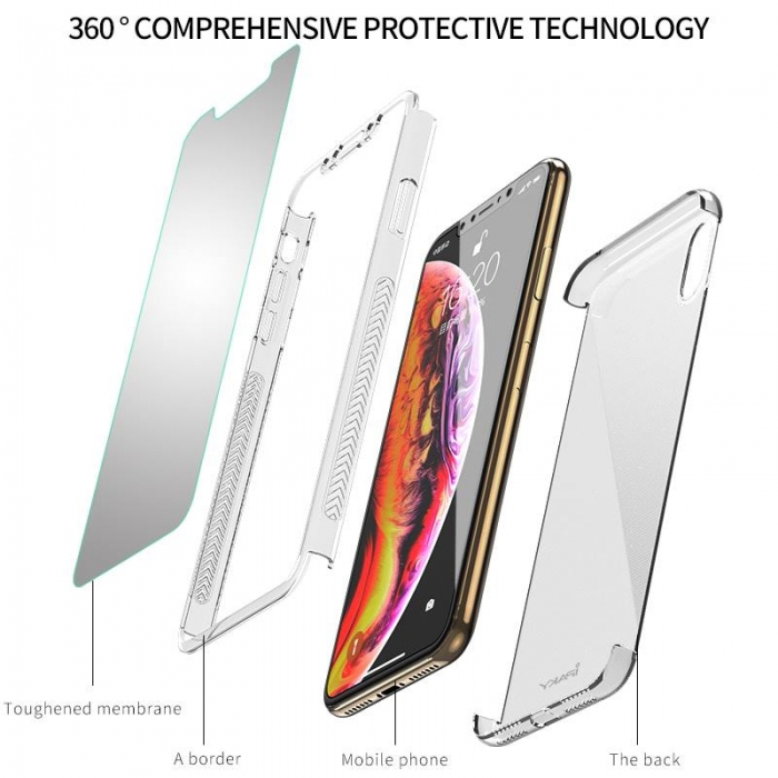 Husa Ipaky 360 Iphone Xs Max - transparent 0