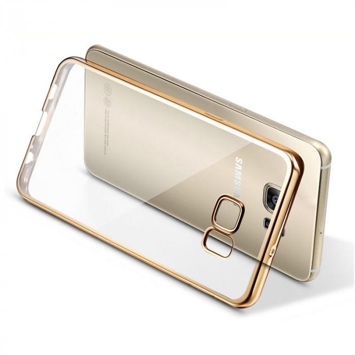 Husa silicon placat margine Samsung S6 4 culori 0
