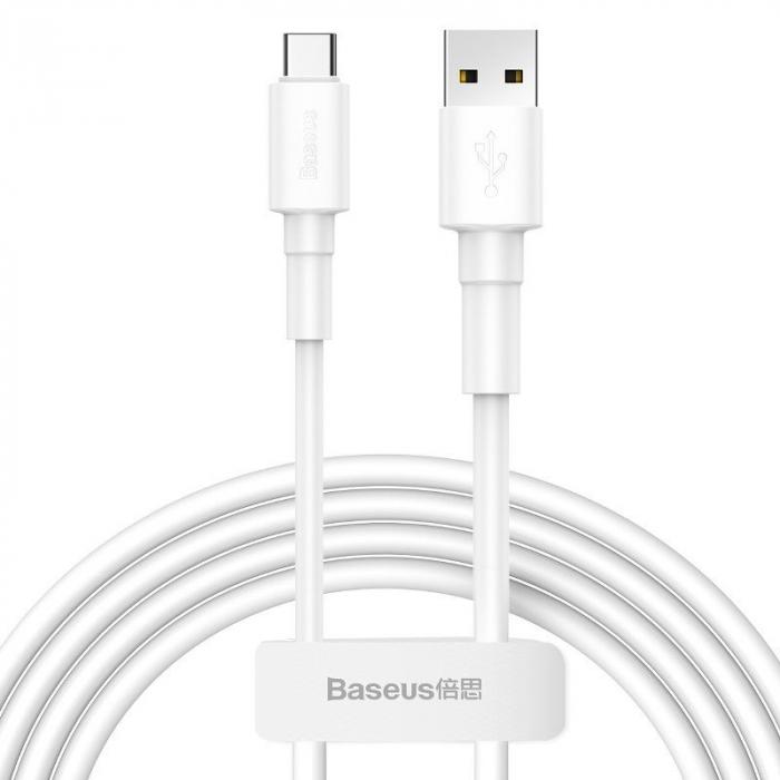 Cablu USB Baseus Mini USB-C  3A 1m (White) [0]