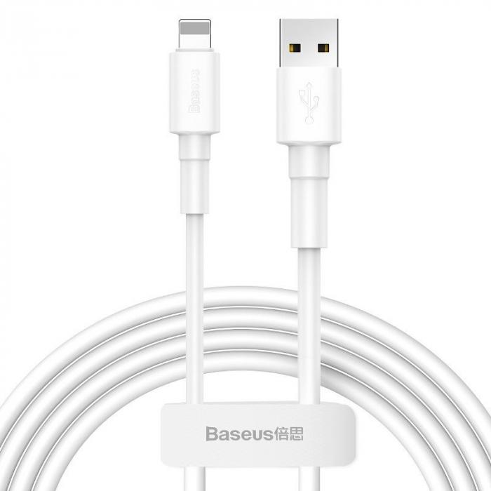 Cablu USB Baseus Mini USB Lightning  2.4A 1m (White) [0]