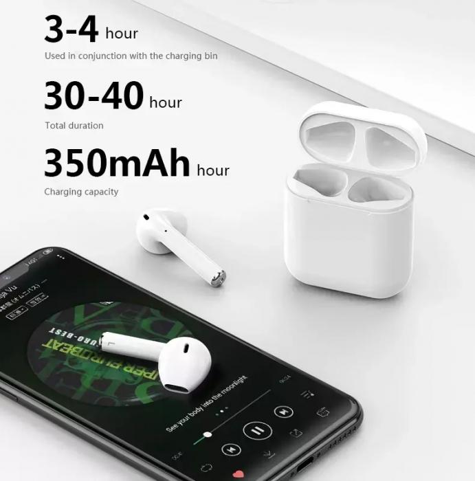 Casti wireless TWS i12 4