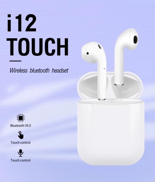 Casti wireless TWS i12 3