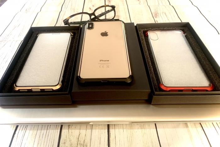 Husa bumper sticla fata spate Iphone 7/8 - 3 culori 0