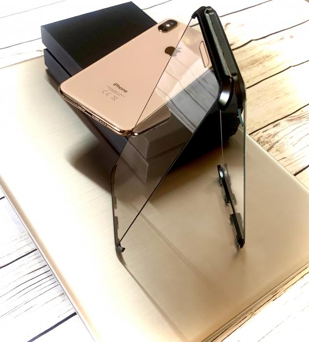 Husa bumper sticla fata spate Iphone 7/8 plus - 3 culori 0
