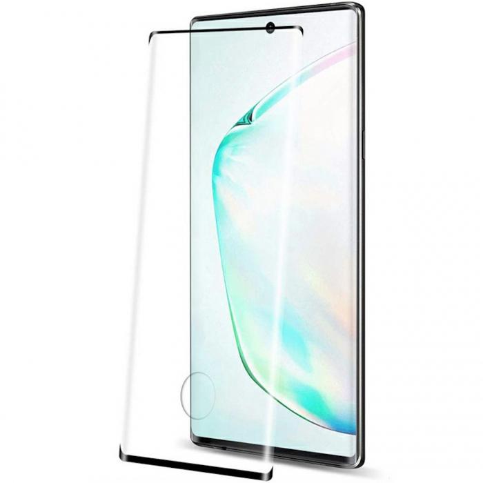 Folie sticla curbata full glue Samsung Note 10 lite, Negru [0]