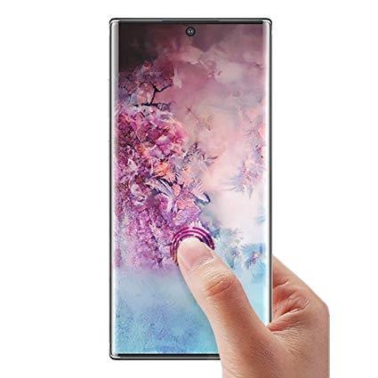 Folie sticla curbata full glue Samsung Note 10 - negru [0]