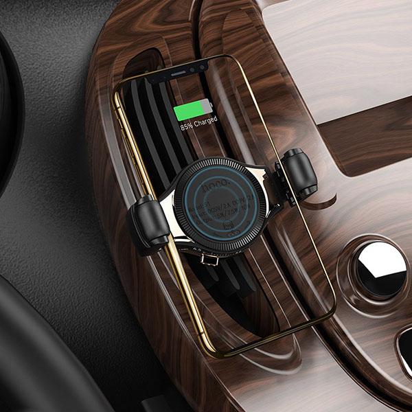 Suport auto Hoco S1 încarcare cu inducție si priză la ventilație 2