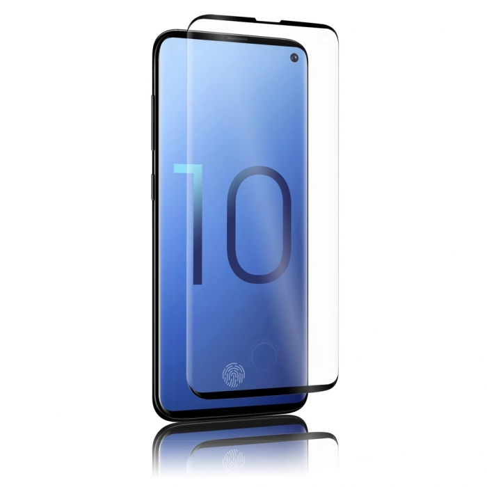 Folie sticla curbata full glue Samsung S10 plus - negru 0