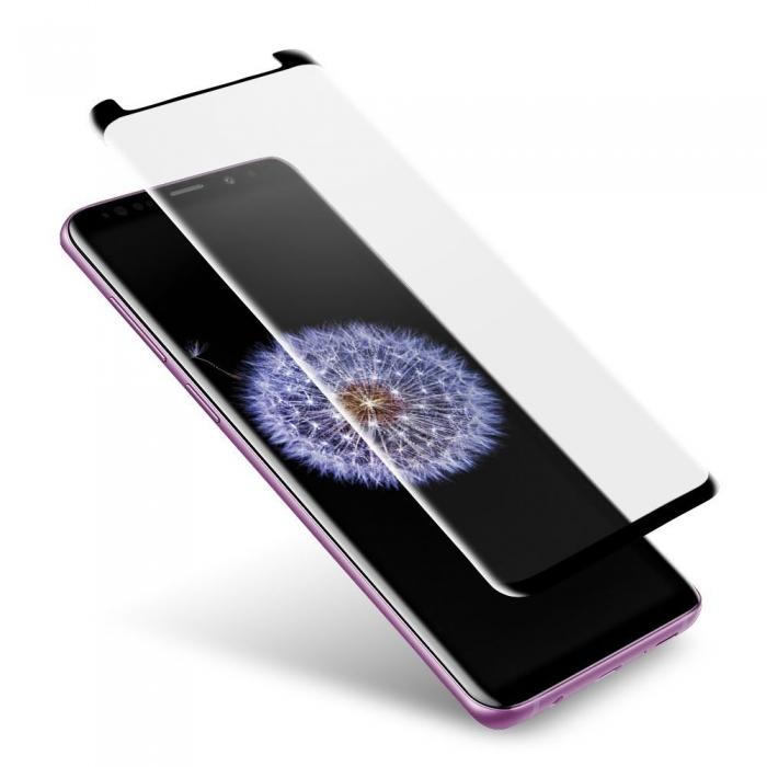 Folie sticla curbata full glue Samsung S9 - negru [0]