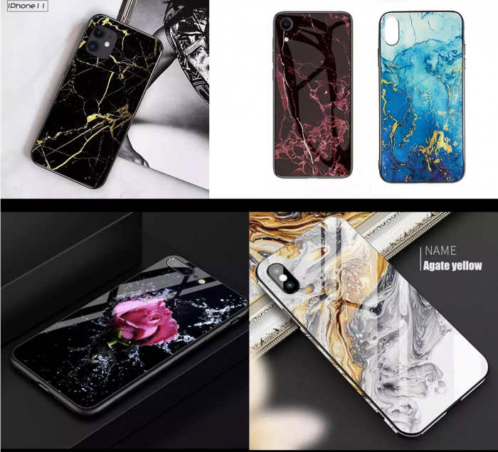 Husa Samsung A50 silicon cu sticla - 5 modele [0]