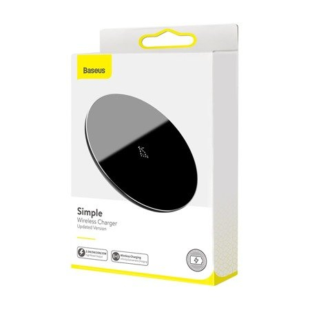 Incarcator wireless Baseus Simple, 15W negru [3]