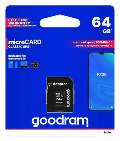Card de memorie Goodram microSD 64GB (M1AA-0640R12) [0]