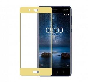 Folie sticla 3D Nokia 3, Gold [0]