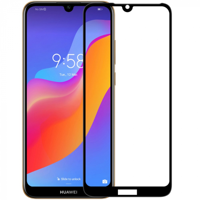 Folie sticla 5D Huawei Y5 (2019) - negru 0