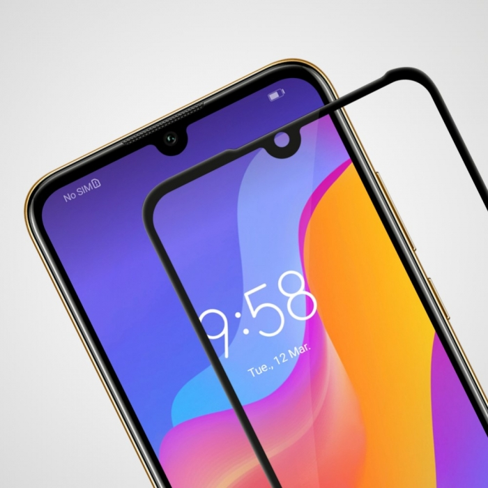 Folie sticla 5D Huawei Y6 (2019) - negru 1