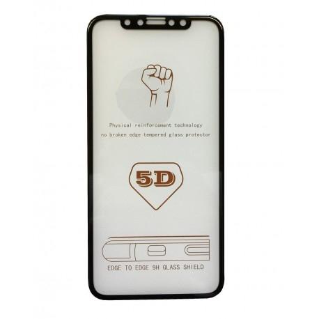 Folie sticla 5D Iphone X/Xs, Negru 1