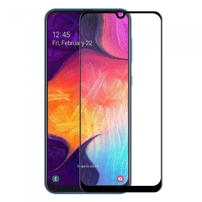 Folie sticla 5D Samsung A50 - negru 0